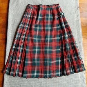 Vintage Tartan Plaid Kilt Skirt